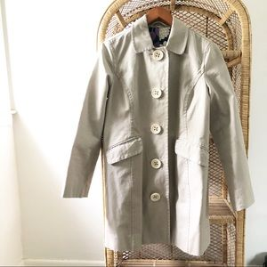 Boden Beige Trench Coat with Purple Inner Lining✨